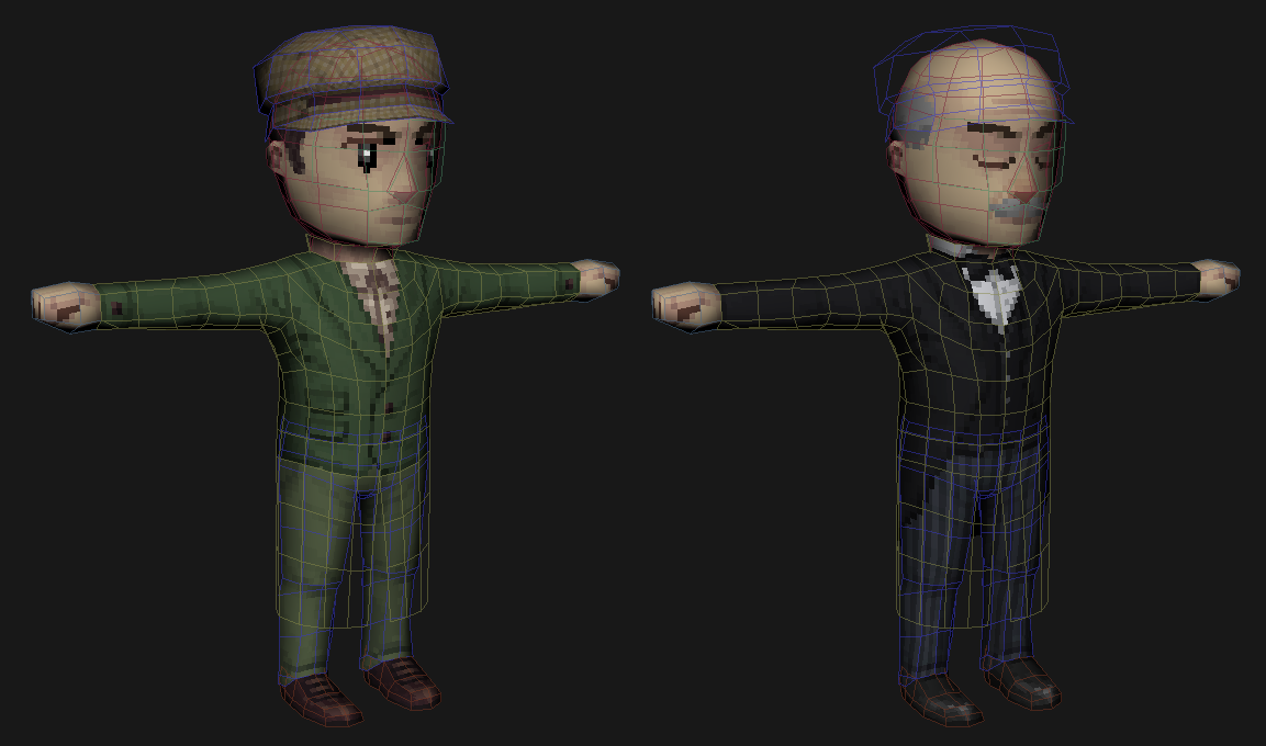 Detective and Butler sharing the same mesh